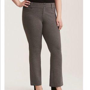 NWT Torrid Grey Ponte Slim Bootcut Pant Size 18S
